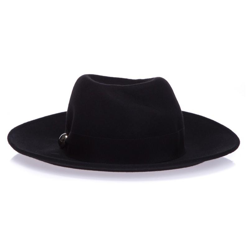 LORIBLU Wełniany kapelusz damski z ozdobą