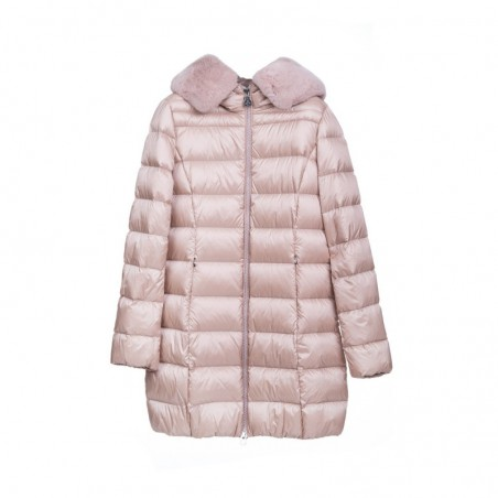 BOSIDENG Różowa długa kurtka damska z puchem
