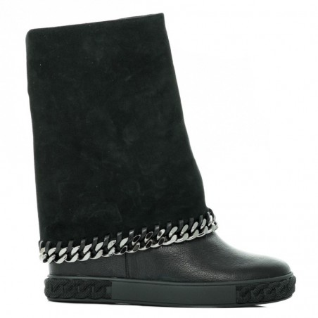 CASADEI Czarne sneakersy z łańcuchem