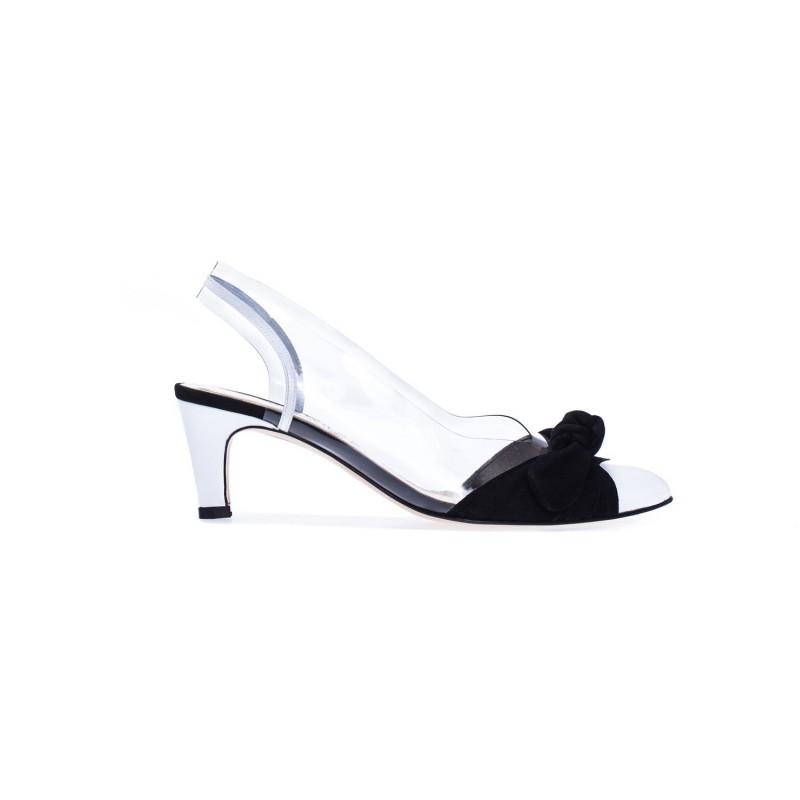Czarne skórzane sandały damskie Azurée LIGUE 77EC