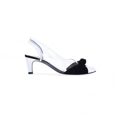 Czarne skórzane sandały damskie Azurée